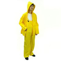 PVC RAINSUITS WITH BIB-PANT