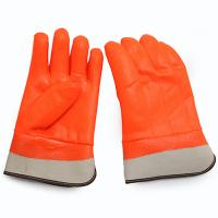 ORANGE PVC WINTER GLOVES