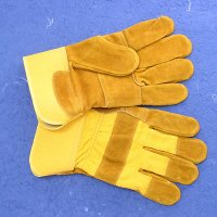 YELLOW COW SPLIT LEATHER GLOVES